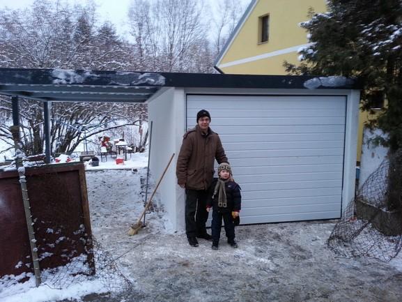 plechová garáž Siebau Raumsysteme akce Lednický