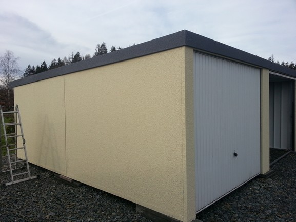 boční stěna plechová garáž