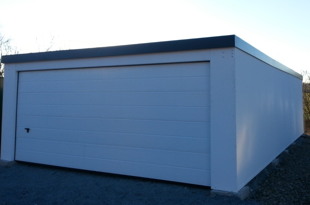 plechová garáž Siebau